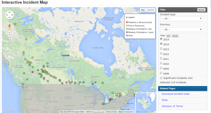 Interactive Incident Map screen capture August 17 2015